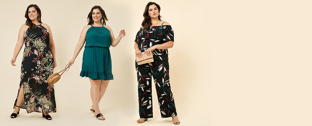 Plus size collection. Your favourite styles designed with your body in mind.Available up to size 3X/22W. Explore the lookbook >