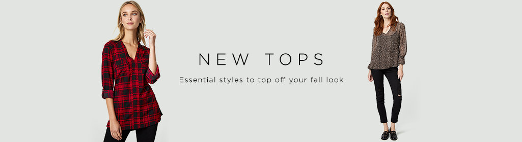 New tops. essential styles to top off your fall look