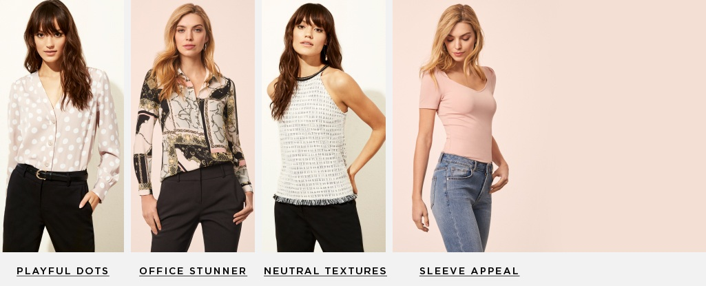 265dbbfc35f7fc Top contenders. Meet the tops your closet needs for spring. Playful dots    Sleeve