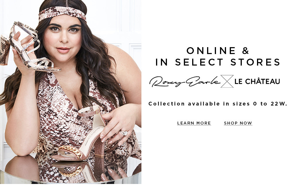 Selling out fast- Online & in stores- Roxy Earle x Le Château- Collection available in size 0 to 22W.